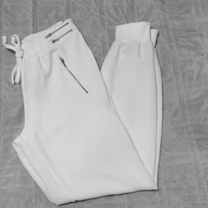 Off white drawstring pants